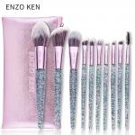 Kit de 10 pincéis de maquiagem Enzo Ken por R$ 45