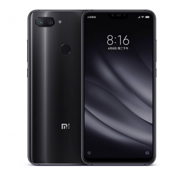 Celular Xiaomi Mi 8 Lite na cor preta